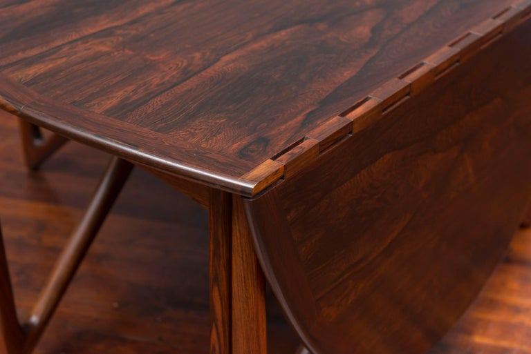 Kurt Ostervig Danish Rosewood Oval Dining Table For Sale 6