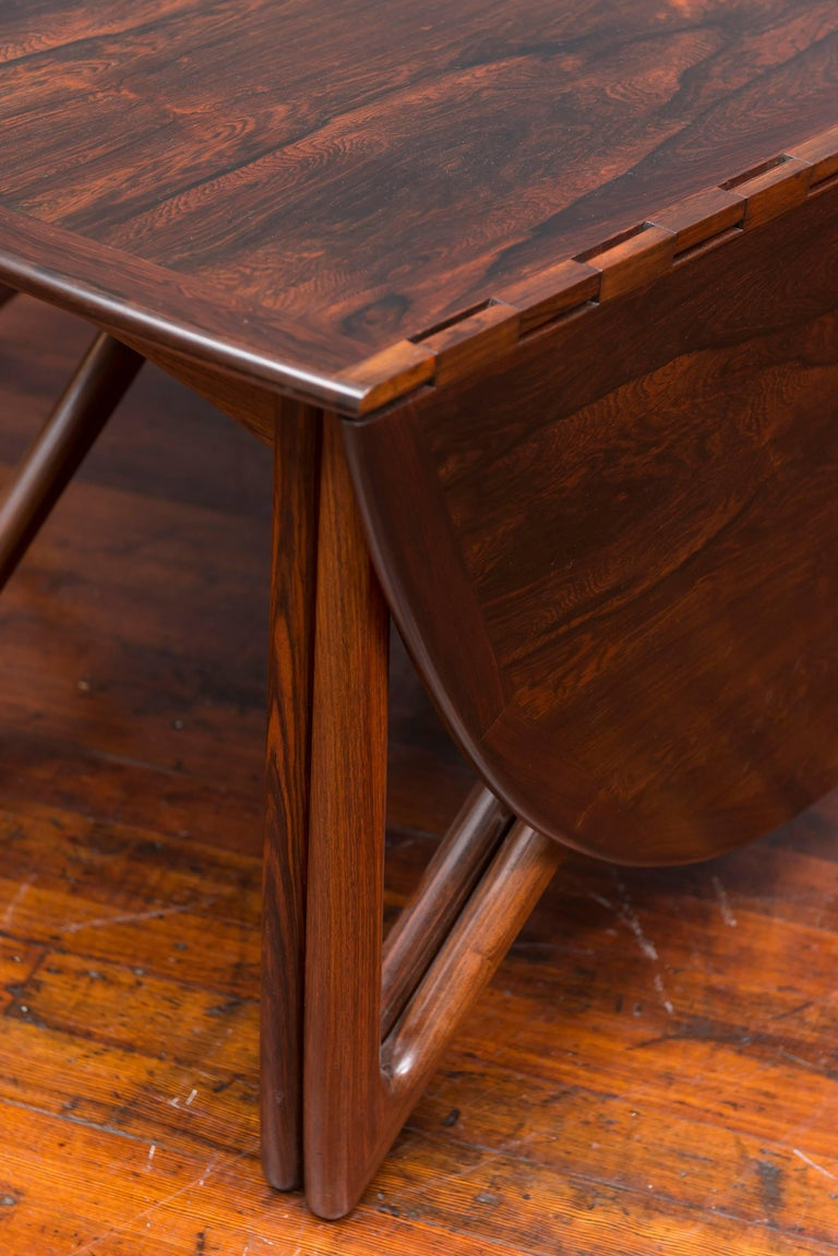 Kurt Ostervig Danish Rosewood Oval Dining Table For Sale 7