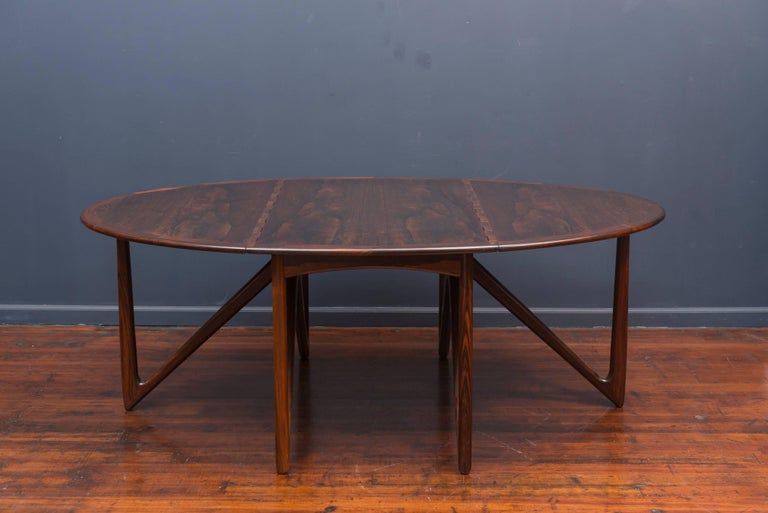 Scandinavian Modern Kurt Ostervig Danish Rosewood Oval Dining Table For Sale