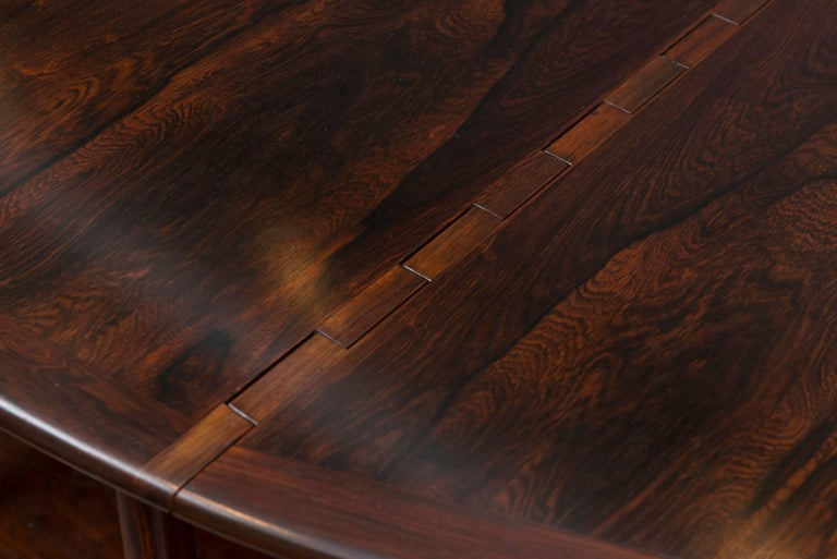 Kurt Ostervig Danish Rosewood Oval Dining Table For Sale 1