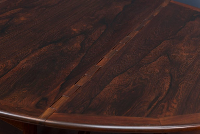 Kurt Ostervig Danish Rosewood Oval Dining Table For Sale 2
