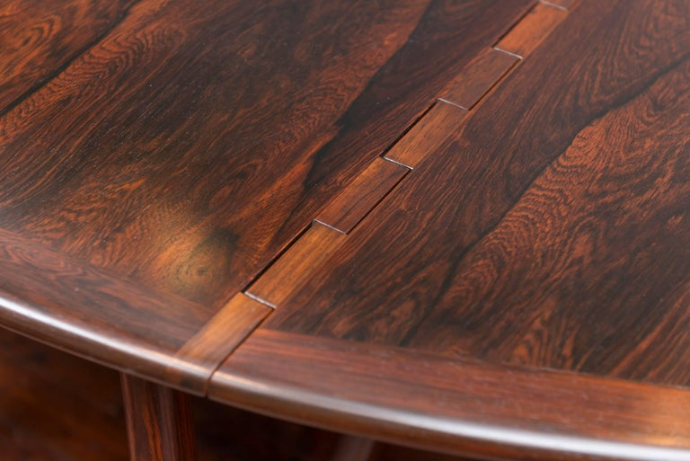Kurt Ostervig Danish Rosewood Oval Dining Table For Sale 4