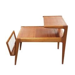 Kurt Ostervig Danish Side Table with Magazine Rack