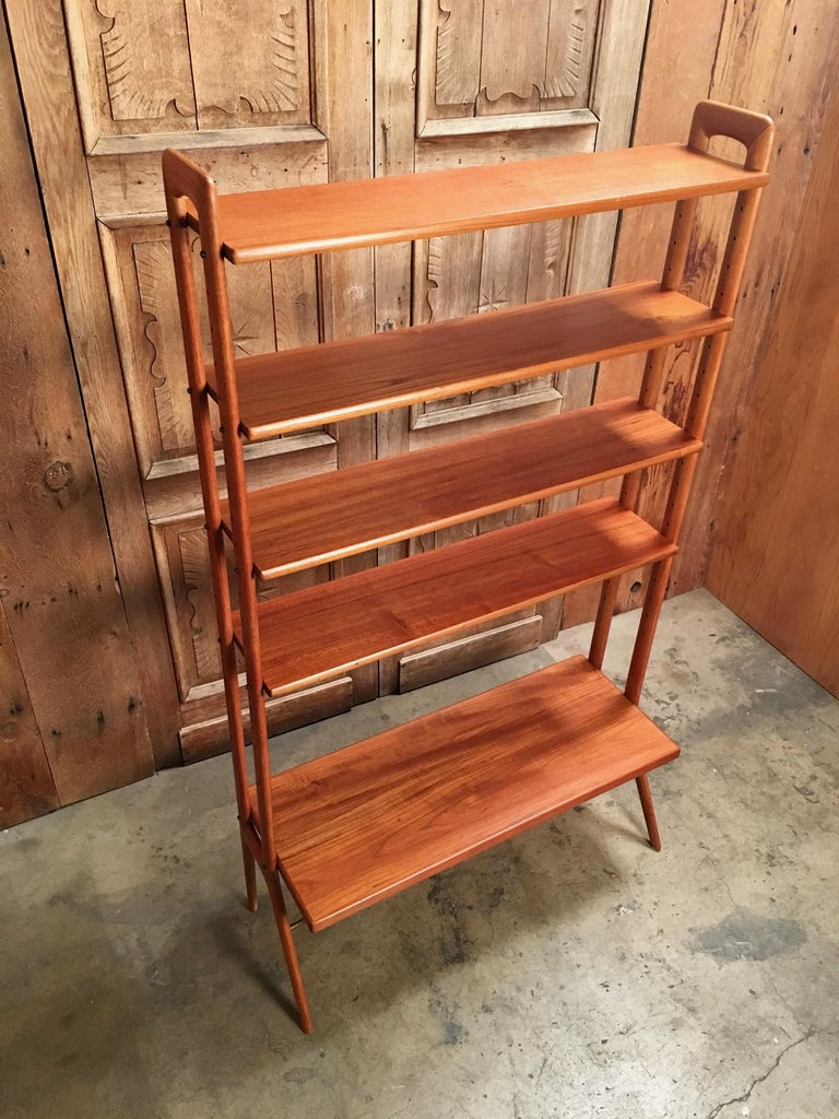 Kurt Ostervig Danish Teak Adjustable Bookshelf and Room Divider For Sale 4