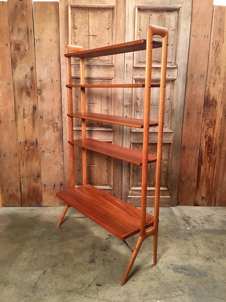 Kurt Ostervig Danish Teak Adjustable Bookshelf and Room Divider For Sale 6