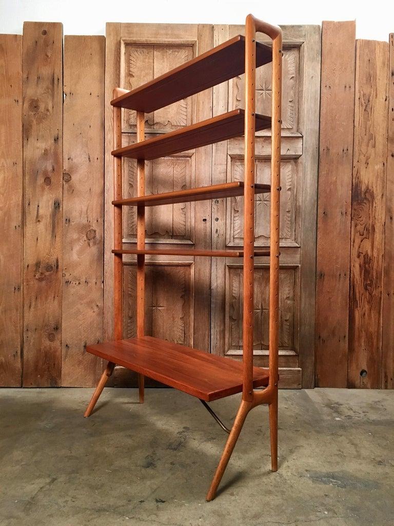 Kurt Ostervig Danish Teak Adjustable Bookshelf and Room Divider For Sale 7