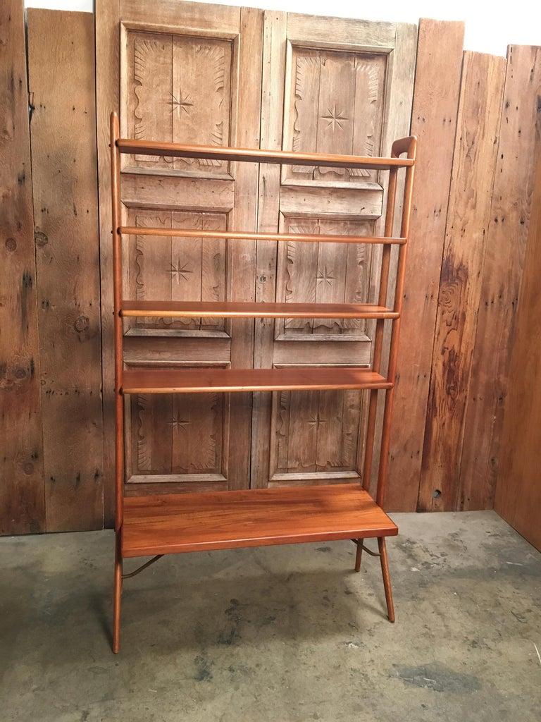 Kurt Ostervig Danish Teak Adjustable Bookshelf and Room Divider For Sale 2
