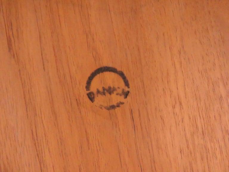 Kurt Ostervig Danish Teak Gate Leg Drop-Leaf Oval Dining Table, circa 1960s For Sale 5