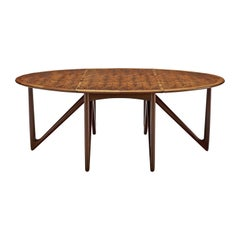 Kurt Ostervig for Jason Mobler Oval Rosewood Dining Table
