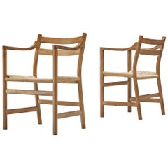 Kurt Ostervig for KP Møbler Pair of Armchairs in Oak