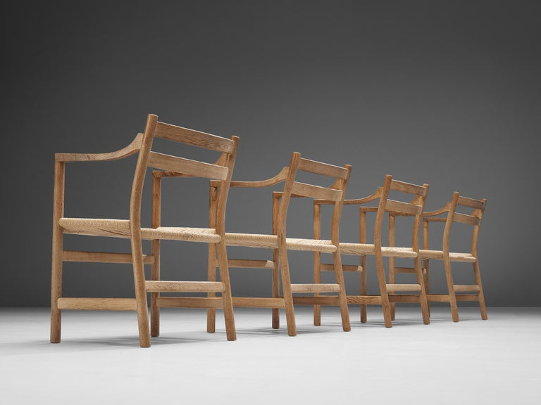 Danish Kurt Ostervig for KP Møbler Set of Four Dining Chairs in Oak