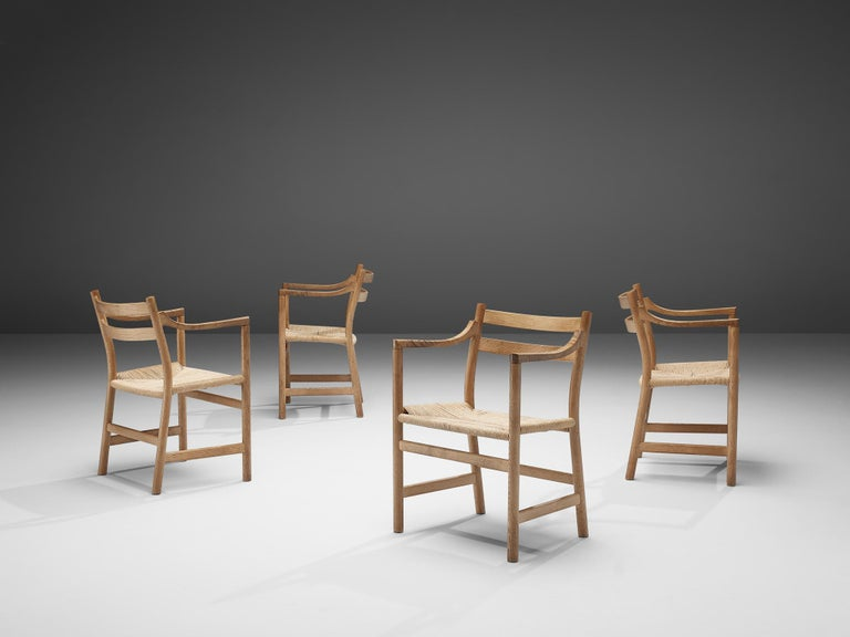Mid-20th Century Kurt Ostervig for KP Møbler Set of Four Dining Chairs in Oak