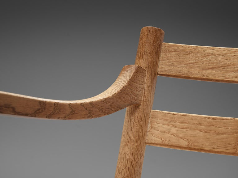 Cane Kurt Ostervig for KP Møbler Set of Four Dining Chairs in Oak