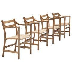 Kurt Ostervig for KP Møbler Set of Four Dining Chairs in Oak