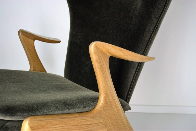 Danish Kurt Ostervig High Back Lounge Chair, 1960s For Sale