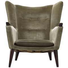 Kurt Ostervig Lounge Chair in Soft Green Velvet