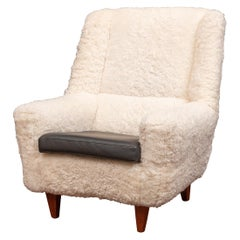 Kurt Ostervig Lounge Chair, Model 61 in Lambswool