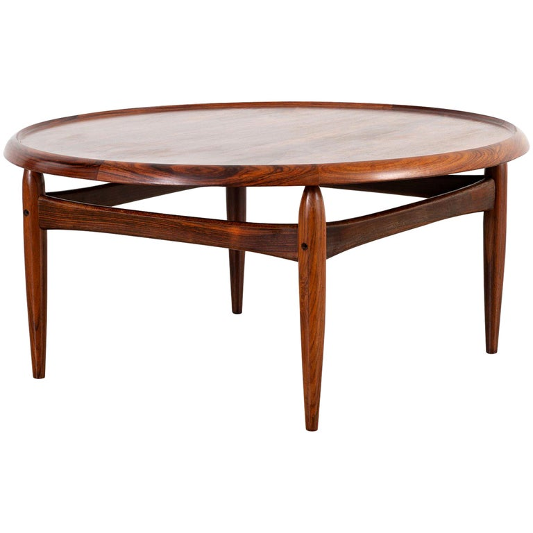 Kurt Ostervig Mid-Century Modern Rosewood Coffee Table For