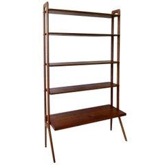 Kurt Ostervig Povl Dinesen Danish Teak Adjustable Bookshelves Room Divider