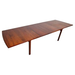 Kurt Ostervig Rosewood Dining Table for Povl Dinesen