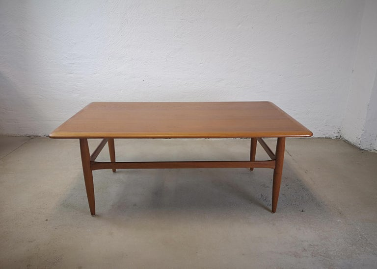 Mid-Century Modern Kurt Ostervig Teak Coffee Table for Jason Möbelfabrik For Sale