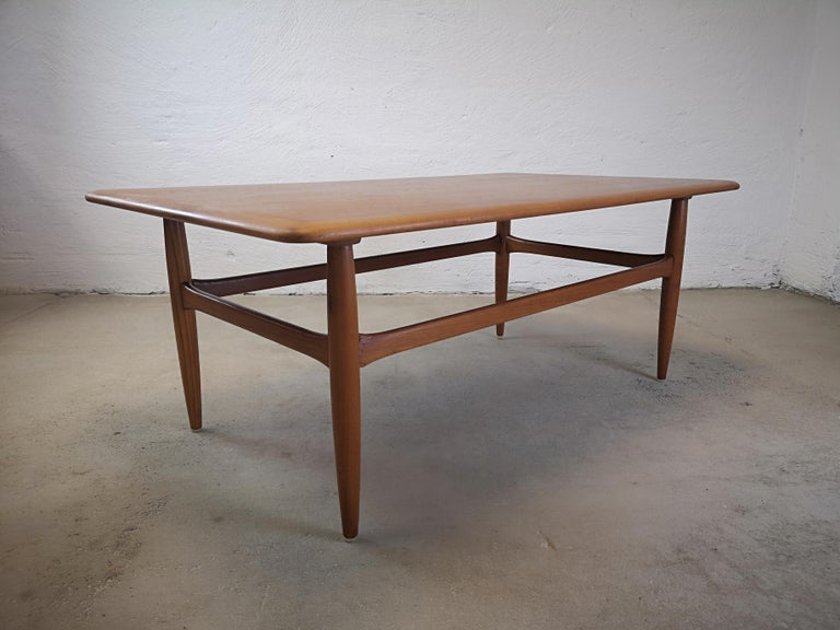 Kurt Ostervig Teak Coffee Table for Jason Möbelfabrik For Sale 3