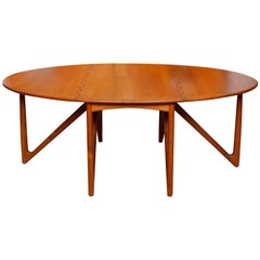 Kurt Ostervig Teak Dining Table Gateleg Folding Jason Mobler Vintage Danish