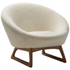 "Kurt Østervig ""57A"" Lounge Chair for Rolschau Møbler Vejen, Denmark, 1958"