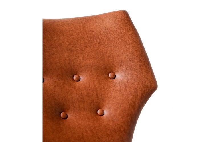 Kurt Østervig Cognac Leather Wing Chairs for Rolschau Møbler For Sale 7