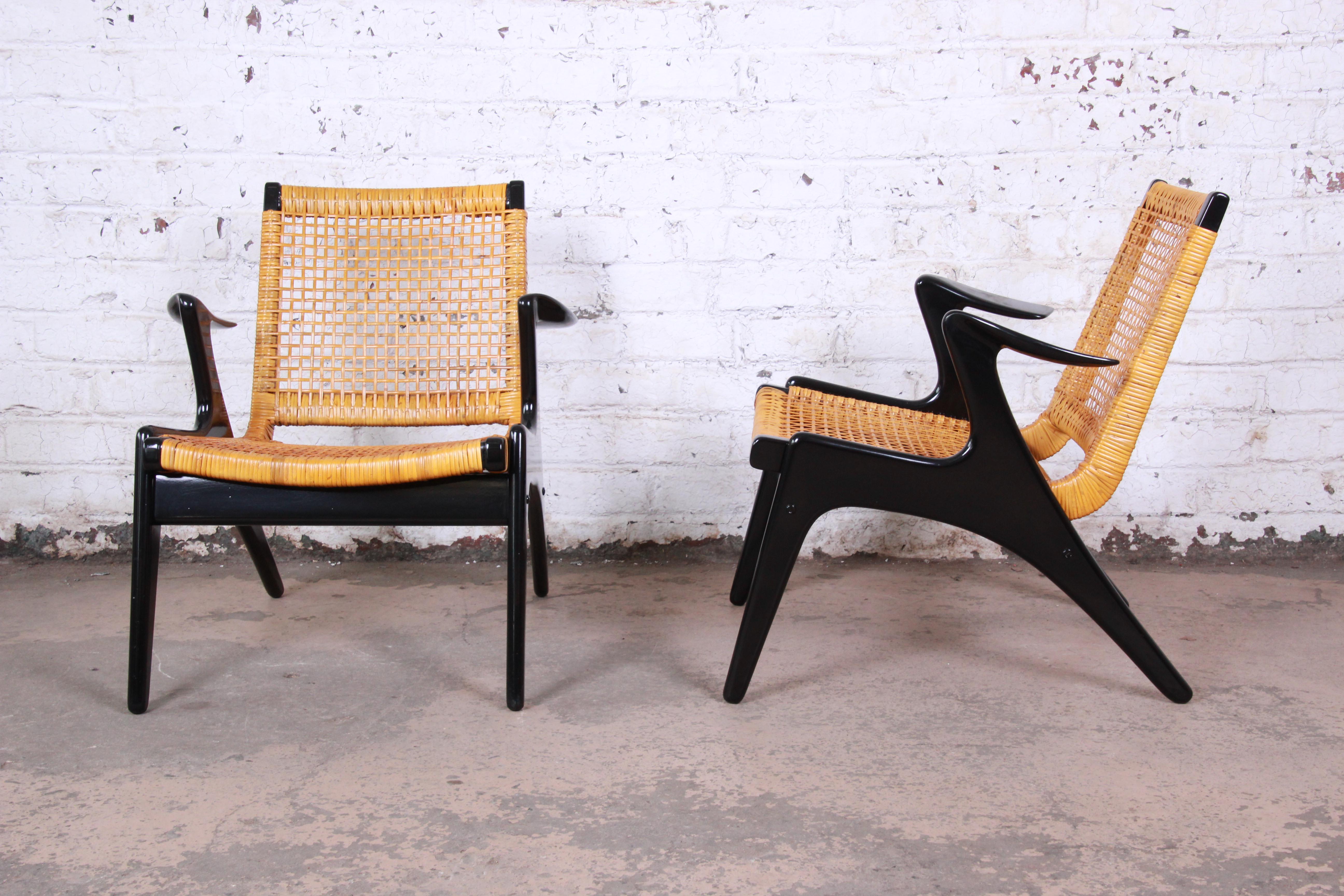Strange Kurt Ostervig Danish Modern Lounge Chairs Pair Inzonedesignstudio Interior Chair Design Inzonedesignstudiocom
