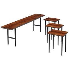 Kurt Østervig for Jason Møbler Rare Set of 4 Side Tables in Rosewood