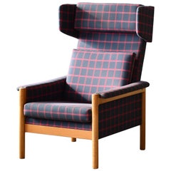 Kurt Østervig Highback Lounge Chair Model 550 in Oak for Slagelse Møbelværk