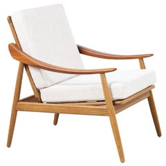 Kurt Østervig Model-301 Teak & Oak Reclining Lounge Chair for Jason Møbler