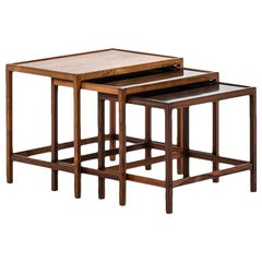 Kurt Østervig Nesting Tables in Rosewood by Jason Møbler in Denmark