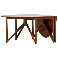 Kurt Østervig, Oval Drop-Leaf Table in Teak for Jason Møbler, 1962, Denmark