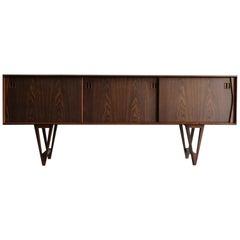 Kurt Østervig Scandinavian Mid-Century Modern Design Dark Wood Sideboard, 1950s