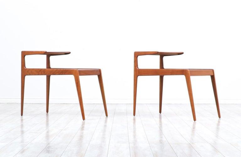 Kurt Østervig sculpted teak side tables for Jason Møbler.