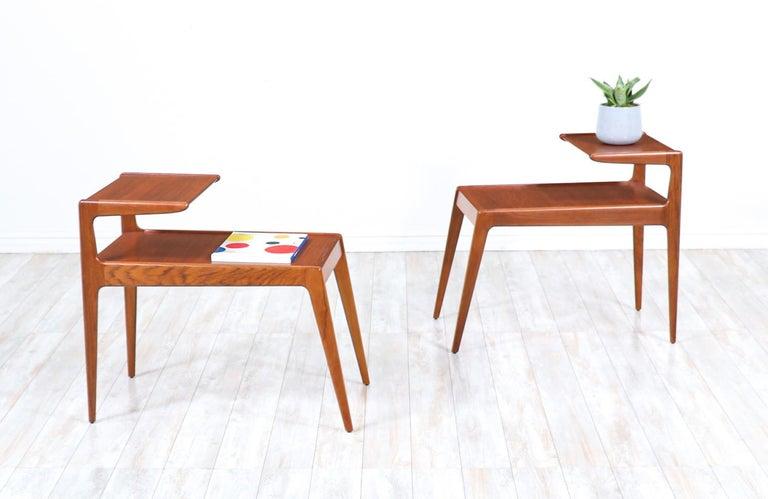 Danish Kurt Østervig Sculpted Teak Side Tables for Jason Møbler For Sale