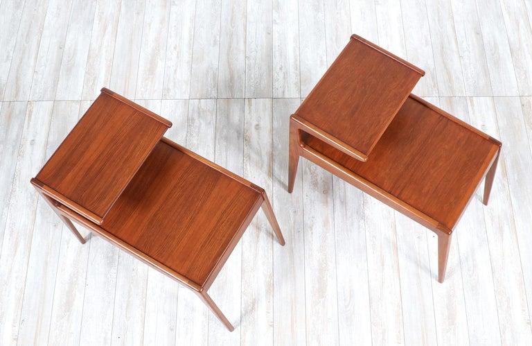Mid-20th Century Kurt Østervig Sculpted Teak Side Tables for Jason Møbler For Sale