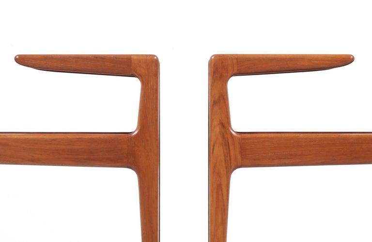 Wood Kurt Østervig Sculpted Teak Side Tables for Jason Møbler For Sale
