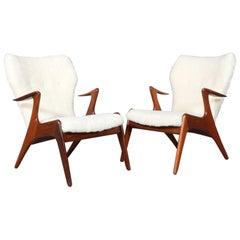 Kurt Østervig Set of Lounge Chairs in Sheepskin