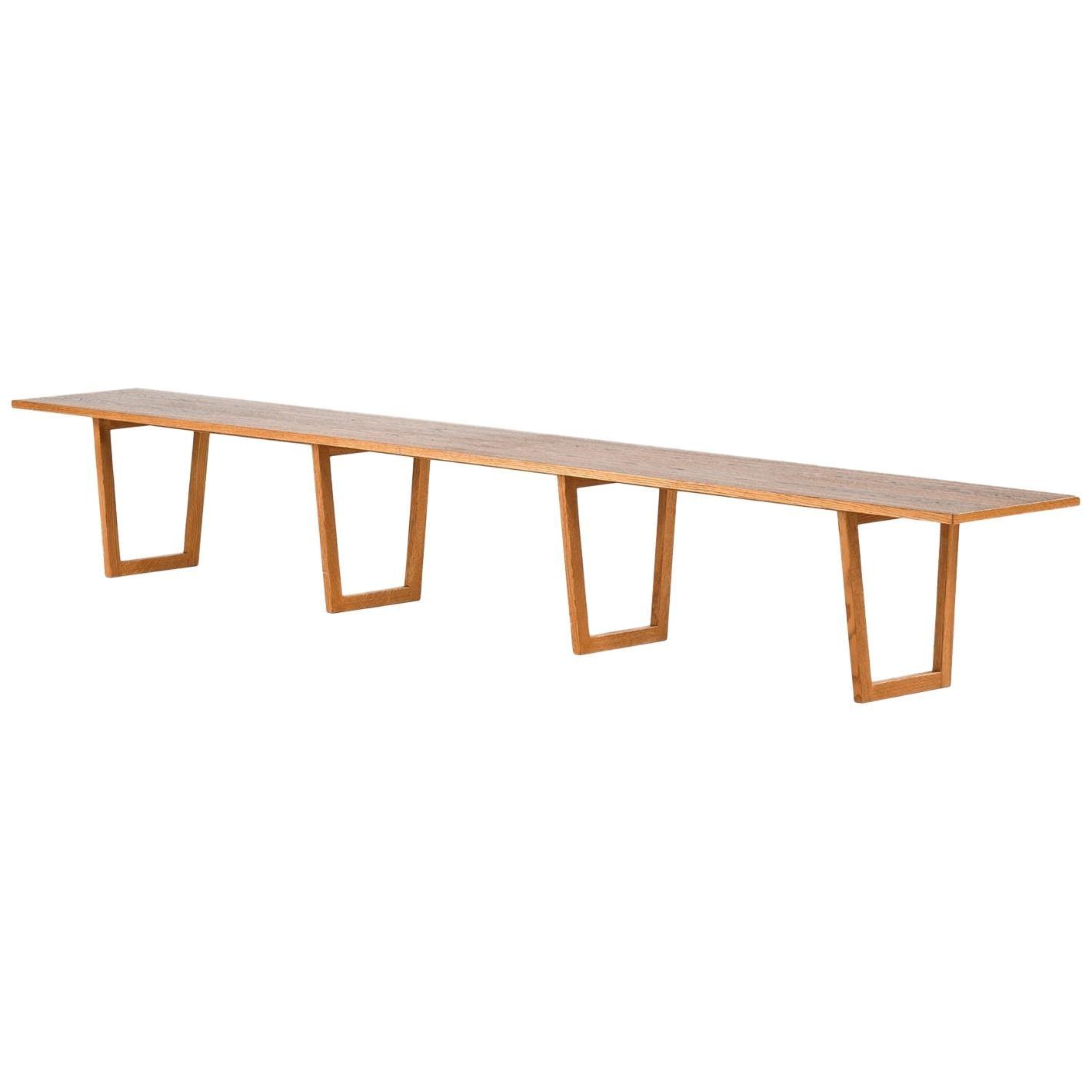 Kurt Østervig Side Table or Bench Produced by Jason Møbler in Denmark