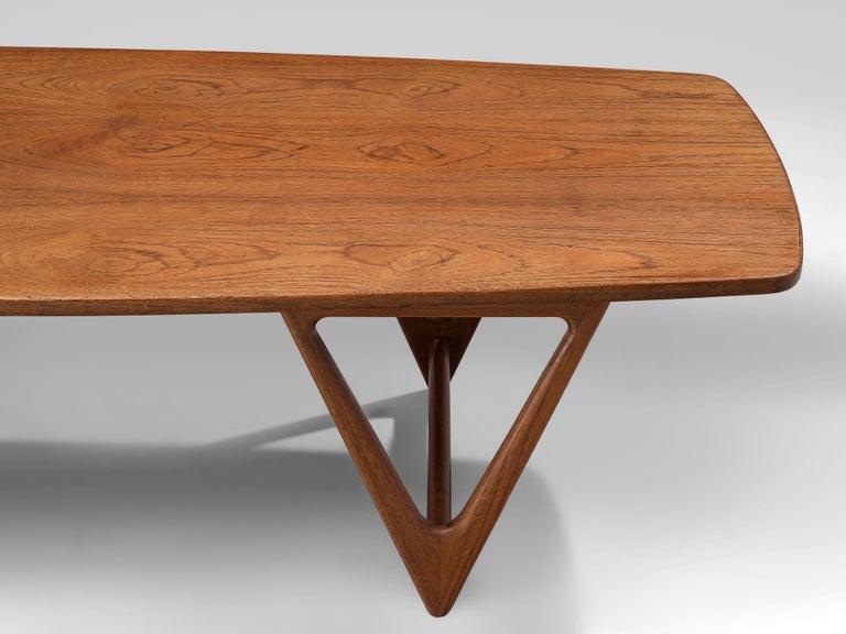 KurtØstervig 'Surfboard' Coffee Table in Teak For Sale 2