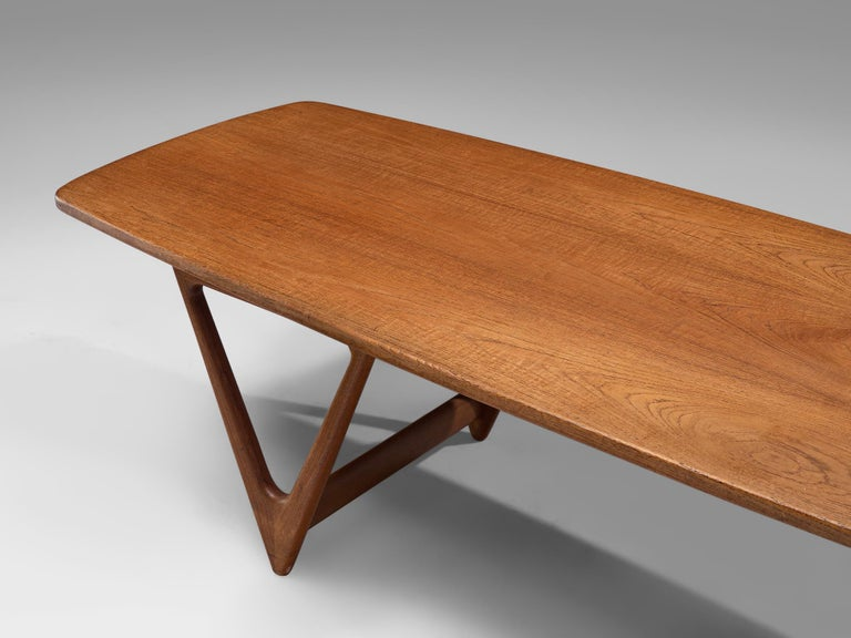 KurtØstervig 'Surfboard' Coffee Table in Teak For Sale 3