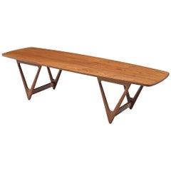 KurtØstervig 'Surfboard' Coffee Table in Teak
