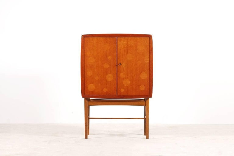 Danish Kurt Østervig Teak and Oak Bar Cabinet, 1940s For Sale