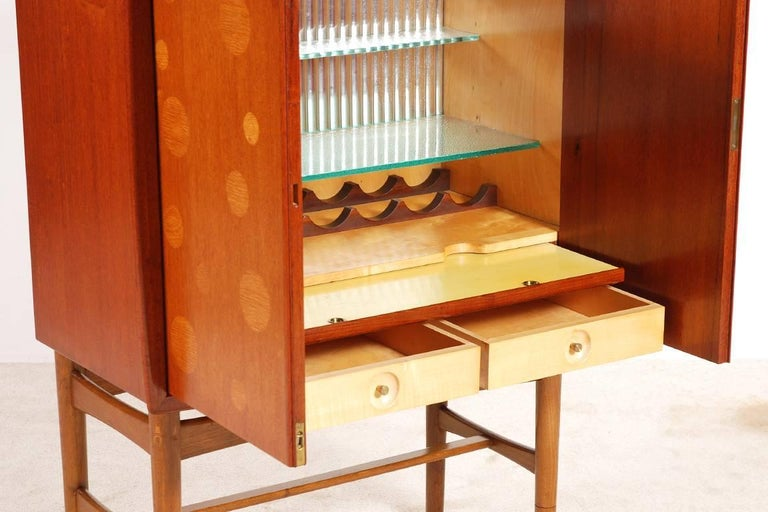 Kurt Østervig Teak and Oak Bar Cabinet, 1940s For Sale 1