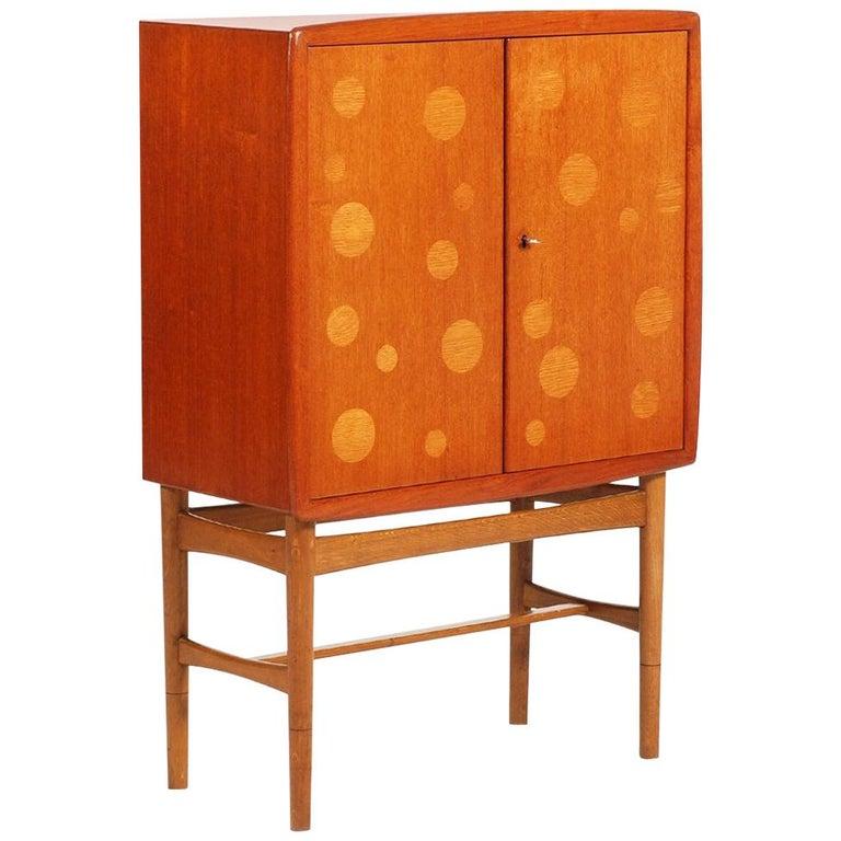 Kurt Østervig Teak and Oak Bar Cabinet, 1940s For Sale