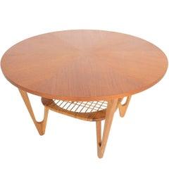 Kurt Østervig Teak Coffee Table with Rack