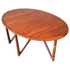 "Kurt Østervig, Teak ""Gateleg"" Drop-Leaf Dining Table, Denmark, 1960s"